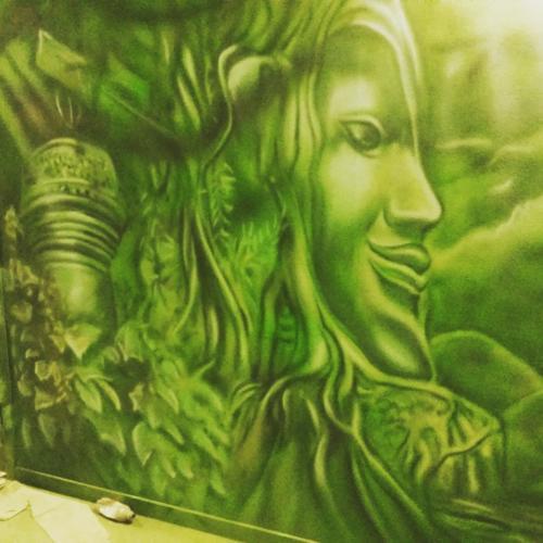 jungle, dżugla mural