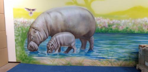 animal, big mural