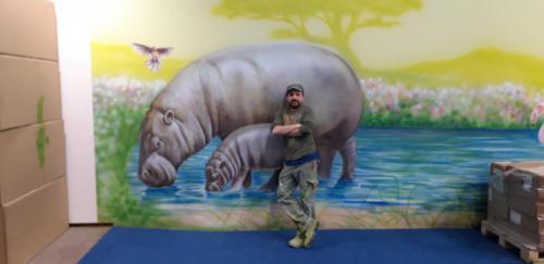 animals walls